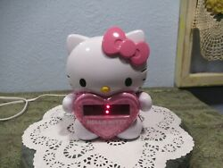 Hello Kitty Wall Projection AM FM Alarm Clock Radio SUPER CUTE TESTED WORKS