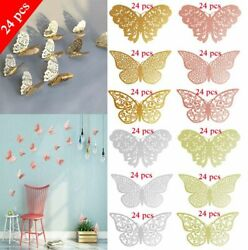 24 Pcs 3D Butterfly Wall Stickers PVC Children Room Decal Home Decoration Decor