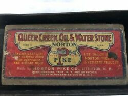 Norton Pike Co. Vintage Pike Queer Creek Oil And Water Stone Sharpening Stoneandnbspandnbsp