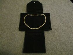 14k Yellow Gold Railroad Chain Link 22and039 Necklace 5 Mm Italy W/ Maker Mark 35 Gr
