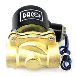 Bacoeng 1/2 Npt Ac110v Brass Normally Closed Electric Solenoid Valve Air