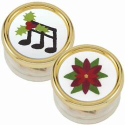 Herrschnersandreg Holiday Tunes And Christmas Poinsettia Music Boxes Stamped Embroidery