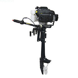 Heavy Duty Outboard Motor 52cc 4 Hp 4-stroke Fishing Boat Engine Air Cooling