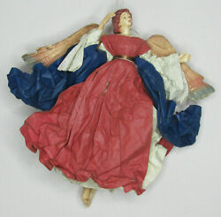 Vintage Paper Mache Flying Angel Hanging Decoration Christmas 13 Tall Beautiful