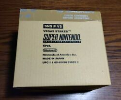 Vegas Stakes For Snes Super Nintendo Sealed Case Of 6 In Original Box See Photos