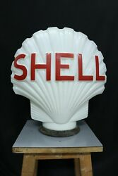 Vintage Ad Petrol Station Glass Lamp Shade Shell Webband039s Crystal Glass Co London