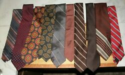 Lot Of 10 Older Ties See The List 14 No Reserve
