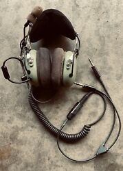 David Clark Aviation Headset H10-76 Excellent Condition Ga Adapter Included