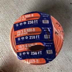 Encore Wire 10/3 Romex 250ft Roll Indoor Use Only.