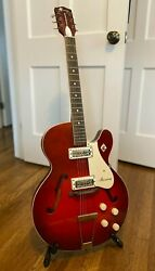 60s Harmony Rocket Vintage Red Electric Guitar