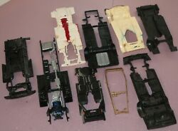 9 Assorted Old Chassis Lot For 124 125 Model Kits, Junkyard Parts Amt Revell