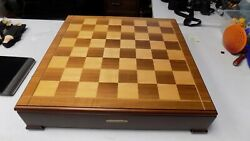 Ducks Unlimited Hand Carved Chess Set 2003 Wooden Board And Piece Carrying Case