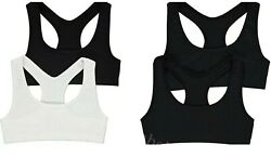 Top Quality Girls 2 Pack Crop Top Seamfree Sports Bra/ Boxers Shorts Age 9-16