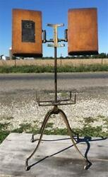 Antique Noyes Aermotor Book Stand Chicago Stand Book Music Dictionary Stand