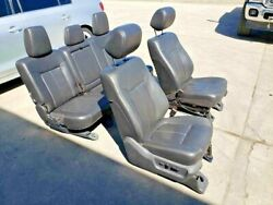 2011-2016 Ford F250 F350 Lariat Leather Seats Front And Rear Heated And Cooled