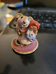 Vintage 1978 Wee Forest Folk Mouse Raggedy Ann Signed Annette Petersen Htf