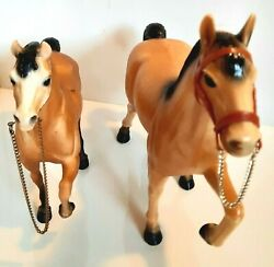 Vintage Horses with Chain Reins