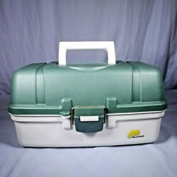 Plano 6103 Tackle Box With 3 Divided Trays - Green And White