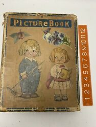 Antique Ooak 1920s Picture Book Collage Art Deco Christmas Gift All Pages Full