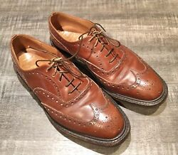 Churchand039s Leather Shoes Size 9 Badge Oxford Brogue Commando Soles Faconnable