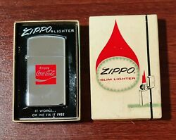 Vintage Zippo 1975 Coca-cola Lighter Unfired Amazing Condition With Box