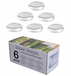 6 Pack - Large Glass Fermentation Weights For Wide Mouth Mason Jars. Preserva...