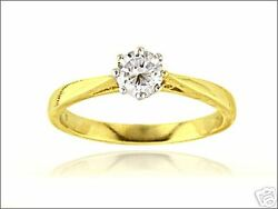 1/2ct Solitiare Diamond 18ct Yellow And White Gold 8 Claw Engagement Ring 0.50 750