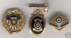 2 Vintage 10k Gold Vfw And American Legion Auxiliary Pins