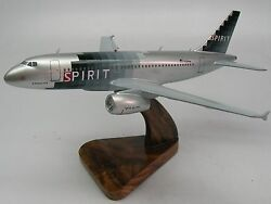 A-319 Spirit Airlines Airbus A319 Airplane Wood Model Free Shipping Big