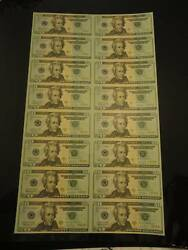 2004 A Uncut 20 Star Notes Sold Out From The Bep