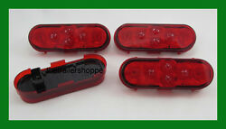 Stop Turn Tail 6 Oval Stt 6 Led Grommet Mount For Trailers -set Of 4 Lights