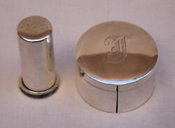 President Reagan And Jane Wyman 2 Piece Sterling Silver Stamp Boxes