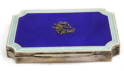 Magnificent 1900and039s German 800 Enamel Silver Box