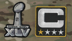 Super Bowl Xlv Steelers Captains Patch And Sb 45 Logo Set Iron-on