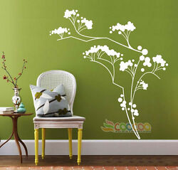 Wall Decor Decal Sticker Removable Flowe Tree 6a Dc0264 43 H