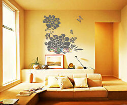Wall Decor Decal Sticker Removable tree Peony Flower DC0363