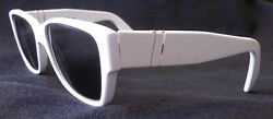 NEW REAL RARE VINTAGE PERSOL WHITE 69218 SUNGLASSES. NOT A HONG KONG COPY!
