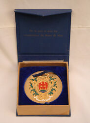 Tony Curtis Estate Magnificent Medal From City Of Nice Presented In 2006
