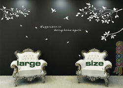 Wall Decor Decal Sticker Removable tree branches birds dc0305 large size 1 color