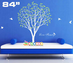 Wall Decor Decal Sticker Mural Removable Vinyl Large Tree Birds Love Family 84h