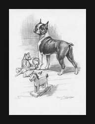 Boston Terrier Dog by Megargee Vintage Print Authentic 1953