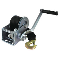 Zinc Plated 800 Lbs Maximum Load Boat Trailer Winch - 2 Inch X 16 Ft Strap