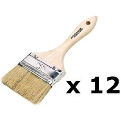 12 Pack Of 4 Inch Double Thick Chip Paint Brushes For Resins Or Bottom Paint