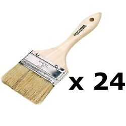 24 Pack Of 1 Inch Double Thick Chip Paint Brushes For Resins Or Bottom Paint