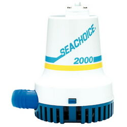 2,000 Gph Electric Submersible Bilge Pump For Boats With 1-1/8 Hose Outlet