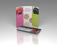 1000 Custom Full Color Brochures Flyers 100 Glossy Paper 1 Or 2 Sides Can Fold