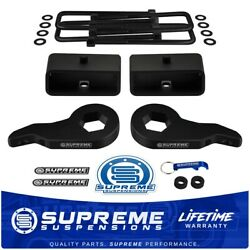 For 88-99 Chevy Gmc K1500 1-3 Front Lift Key 2 Rear Tapered Lift Block Kit 4x4