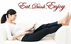 Eat Drink Enjoy - Kitchen Dining Room Amazing Vinyl Wall Stickers High Quality