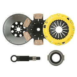 STAGE 3 CLUTCH KIT+CHROMOLY LIGHTWEIGHT FLYWHEEL fits 04-07 ACURA TSX K24 by CXP