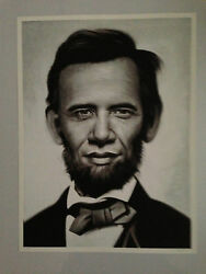 Sold Out Obama Poster Obama X Lincoln By Ron English Limited Edition